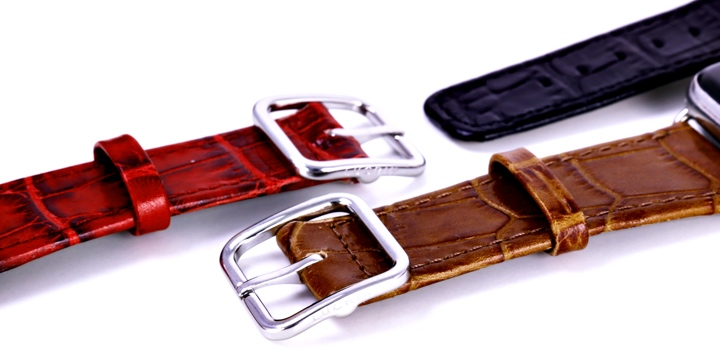 Apple Watch Series 5 Elegance Watch Band - (44 mm) - Camel - Crocodile style calfskin